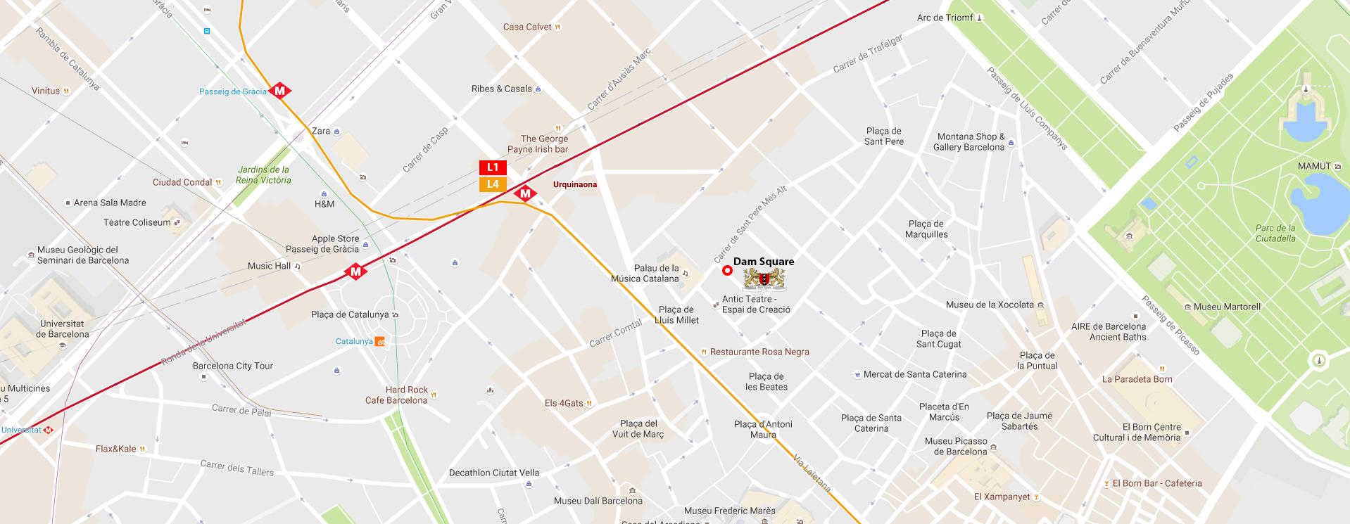 Asociaciones Cannabicas Barcelona Mapa.Dam Square Barcelona Accb Association Cannabis Club
